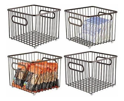 Mdesign Metal Farmhouse Cocina Despensa Organizador De Almac