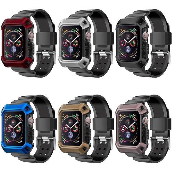 Correa Y Case De Rudo Para Apple Watch Serie 4 + Mica Tpu