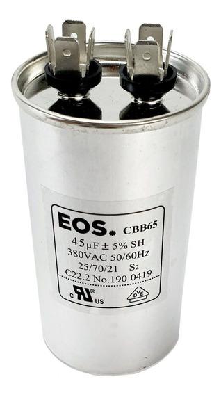 Capacitor De Partida Para Motor. 45 Uf +- 5% 380vac 50/60 Hz