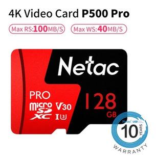 Cartão De Memória Netac Micro Sd Cartão Microsdxc Tf 128 Gb