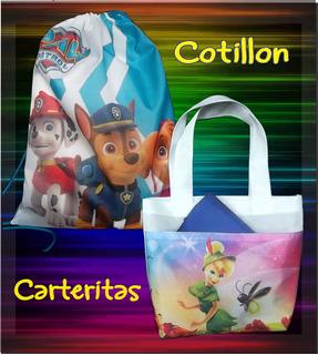 Cotillon Tula Carterita Infantil Bolsos Personalizado 25x20