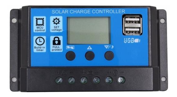 Kit Com 2 Controlador De Carga Solar 12/24v 30 Amperes