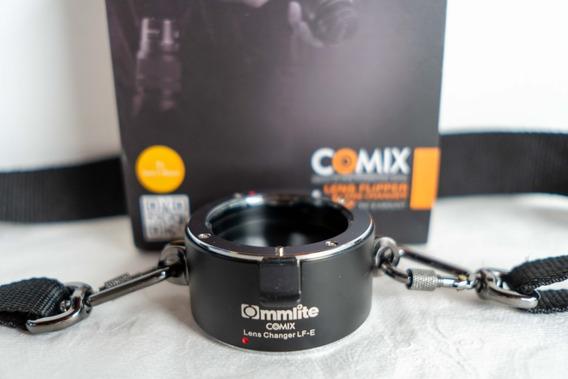 Lens Flipper Commlite Adaptador Troca Rápida Lentes Sony