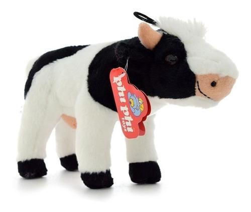 Imagen 1 de 4 de Peluche Animal Vaca Real Parada 23 Cm. Phi Phi Toys