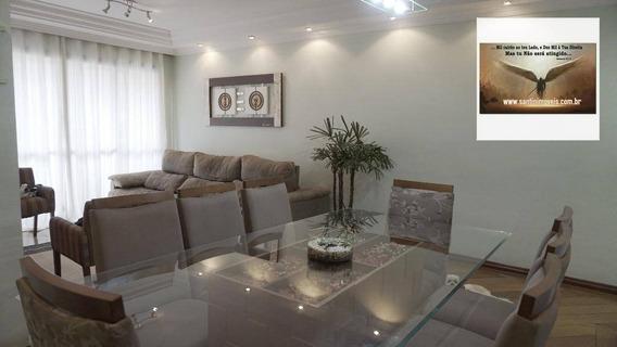 Apartamento Residencial De 98 M² Com 03 Dormitórios (sendo 01 Suíte) À Venda, Vila Valparaíso, Santo André. - Ap0611
