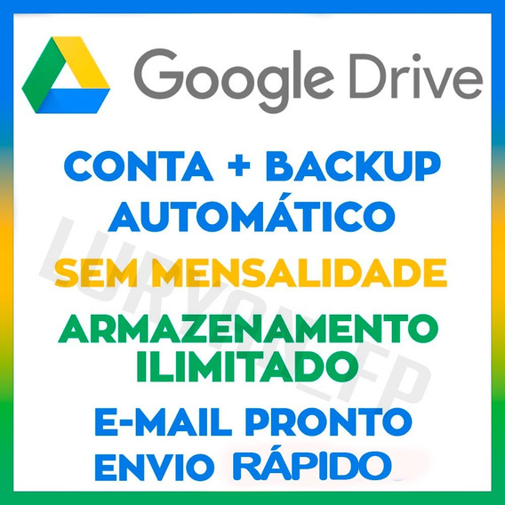 Google Drive Com Armazenamento Ilimitado E Vitalício Sempre