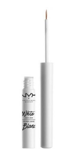 Delineador Liquido Branco Nyx Matte Resistente A Água