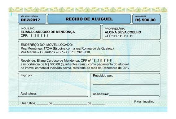 Recibo De Aluguel Em Pdf E Word - Modelo