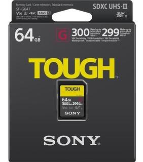 Cartão Original Nacional Sd Sony 64gb 4k Tough 300 Mb/s