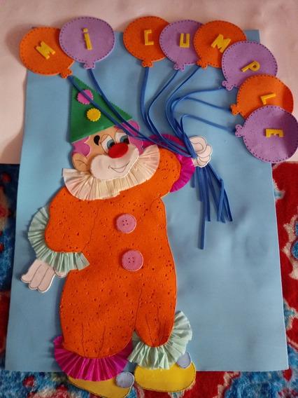 Cartel De Cumpleaños En Goma Eva