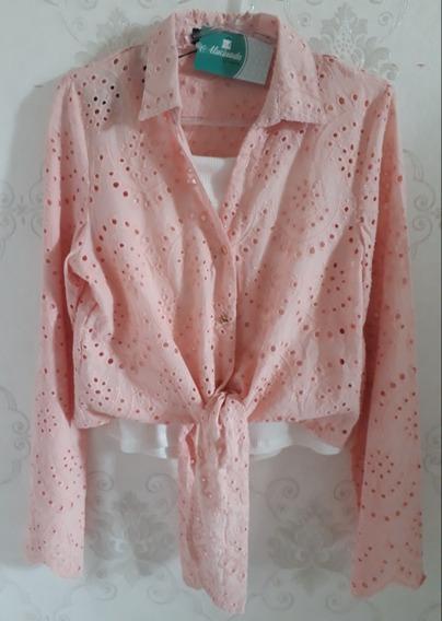 Blusa, Camisa, Cropped De Botoes.