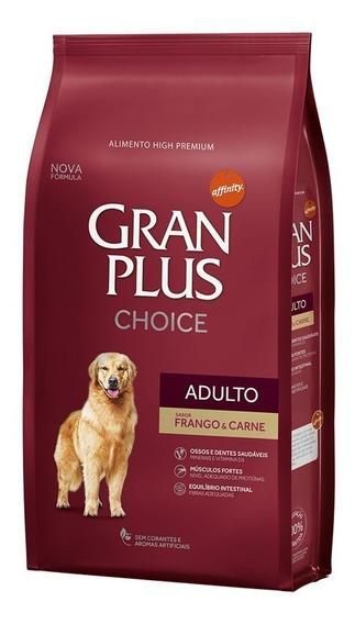 Ração Gran Plus Choice Frango E Carne Cães Adulto 15kg