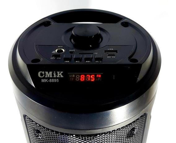 Caixa Som Bluetooth Mp3 Rádio Recarregável Controle Remoto