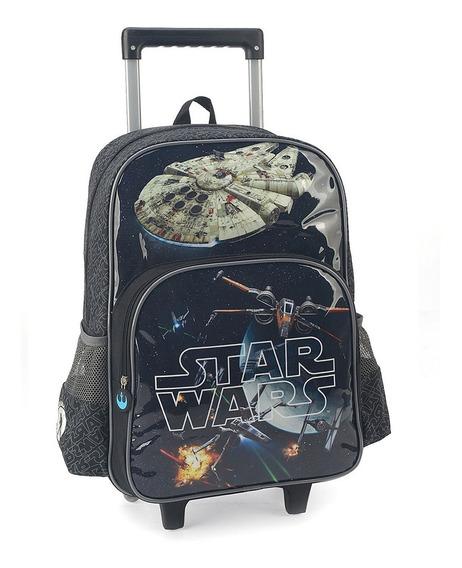 Mochilete Escolar Star Wars 41x30x14 Cm Cinza Luxcel Luxcel