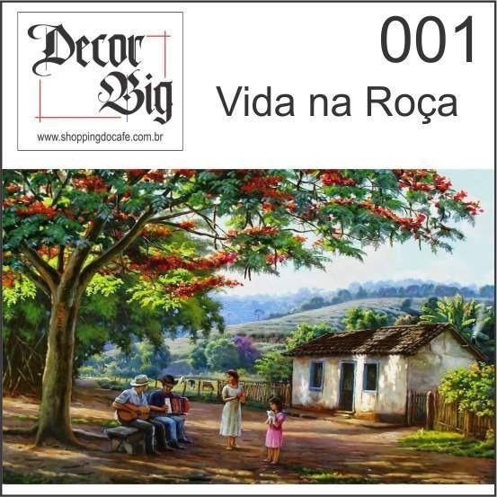 Quadros Decorativos Placa 29,5cm X 17,5cm Paisagem, Sítio