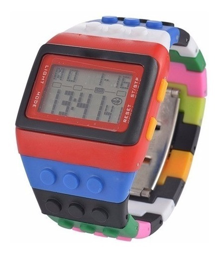 Relógio De Pulso Shhors Led Digital Colorido Casual Moda