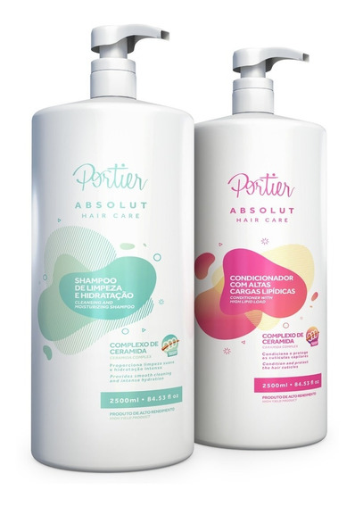 Kit Portier Absolut Hair Care 2,5l Shampoo + Condicionador