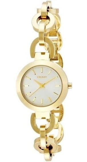 Relógio Luxo Feminino Dkny Dourado Original C/nf Ny2134/4dn
