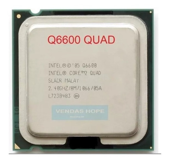 Core 2 Quad Q6600 2,4ghz Socket 775 +past +2gb Ddr2 800mhz