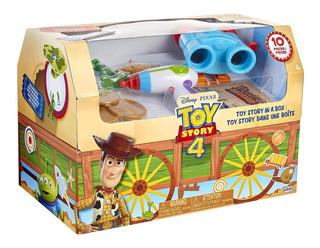 Toy Story 4, Woody En Una Caja - Cofre Con 10 Jueguetes