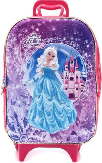 Mochilete Soft Princess 3d Escolar Maxtoy Mochila Princesa