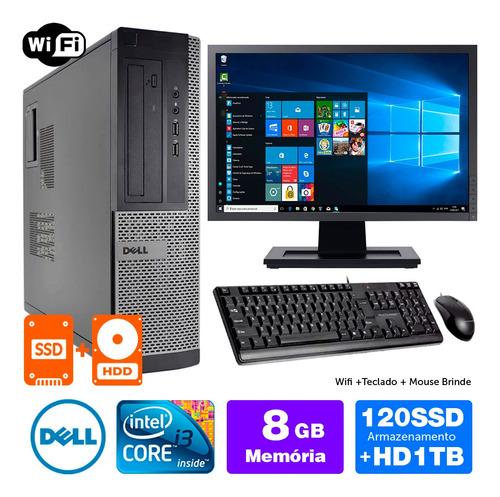 Imagem 1 de 5 de Desktop Barato Dell Optiplex Int I3 2g 8gb Ssd120+1tb Mon19w