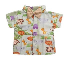 Camisa Infantil Social Temática Safari Roupa/fantasia