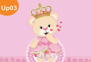 Painel Lona Ursinha Princesa Rainha Coroa Rosa Banner