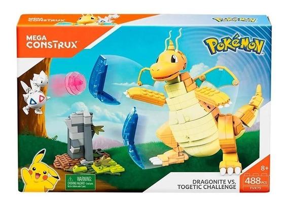 Boneco Lego Dragonite Vs Togetic Mega Construx Pokemon