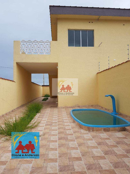 Casa Com 2 Dorms, Balneário Gaivota, Itanhaém - R$ 170 Mil, Cod: 858 - V858