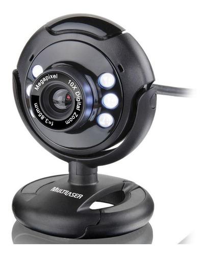 Webcam Multilaser Visão Noturna 16mp Usb Microfone - Wc045