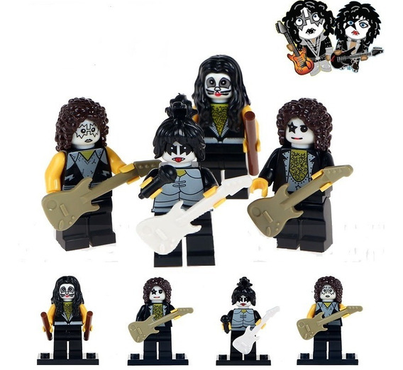Bonecos Banda Kiss Rock In Roll - Minifiguras