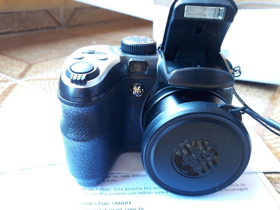 Camera Semi Profiss Ge X400 15x + Pilhas Memoria Bolsa Tripé