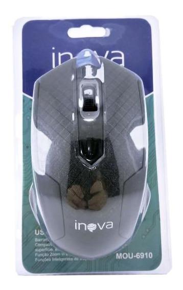 Mouse Óptico Com Fio Usb 1000dpi Inova - Original Com Nf
