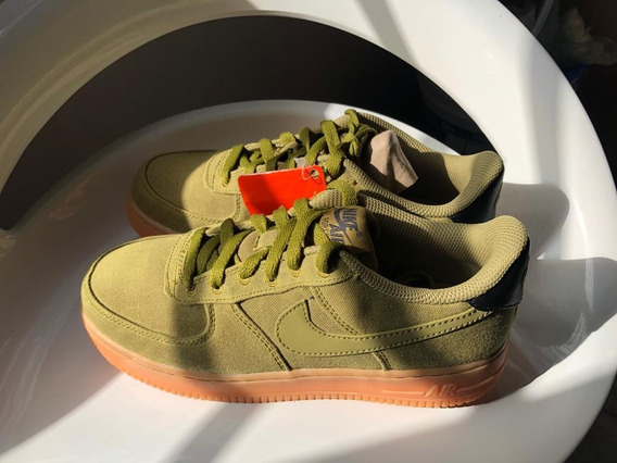 Zapatillas Nike Air Force 1 Verdes Hombre Mujer