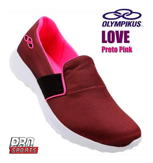 Olympikus Love Preto Pink - Original - Fe