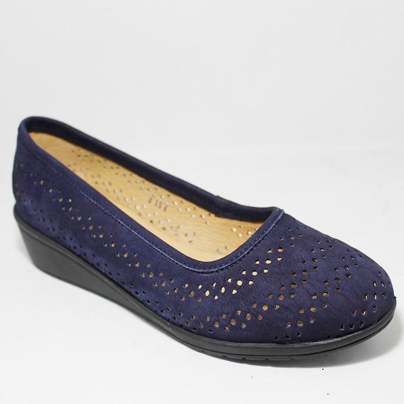 Calzado Dama Capricho Azul Marino Casual Ligero Piel I