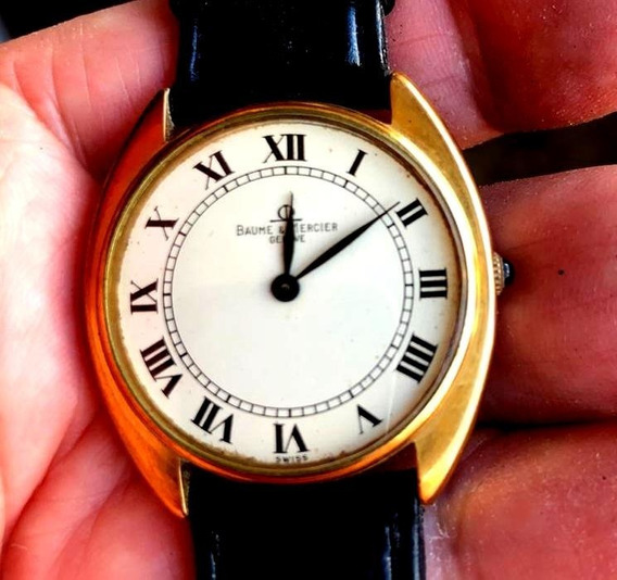 Baume & Mercier Swiss A Corda Manual Plaque De Ouro 18k