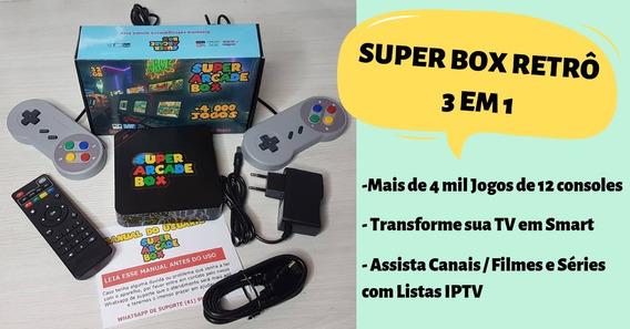 Super Game Retrô 3 Em 1 Box Tv + Brinde E *frete Grátis*