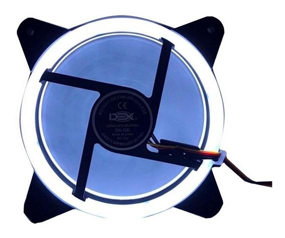 2 Cooler Fan 120mm C/30led Branco Dupla Face P/gabine Pc Cpu