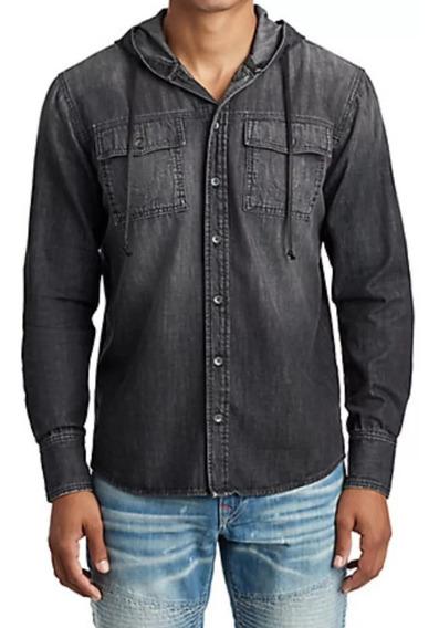 True Religion Camisa De Hombre Original, Talla S