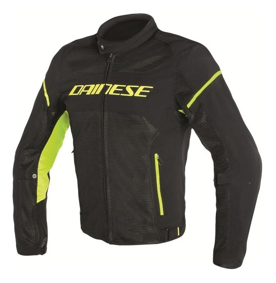 Campera Touring Dainese Air Frame D1 Negro/amarillo Fluo