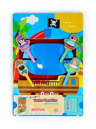 Teatro Temático Pirata De Títeres De Madera Pipikuku