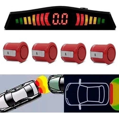 Sensor De Estacionamento Vermelho Meia Lua Display Led