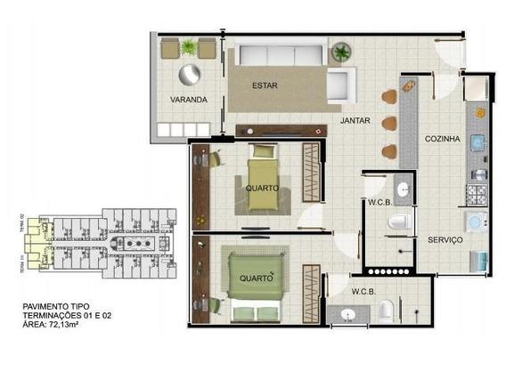 Apartamento Para Venda, 2 Dormitórios, Jatiúca - Maceió - 1030