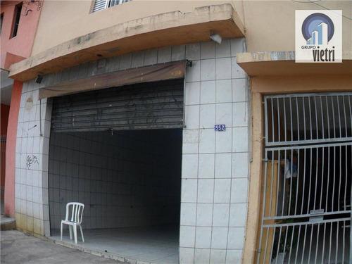 Salão Comercial Para Locação, Vila Zat, São Paulo. - Sl0052