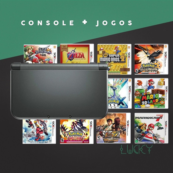 New Nintendo 3ds Xl + Jogos Instalados!