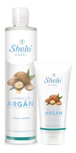 Shampoo De Argan Shelo Nabel Repara Cabello Maltratado