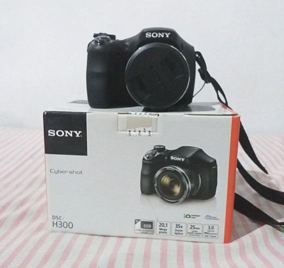 Camera Sony Dsc H300 - Usada Poucas Vezes - 20.1 Mp Zoom 35x