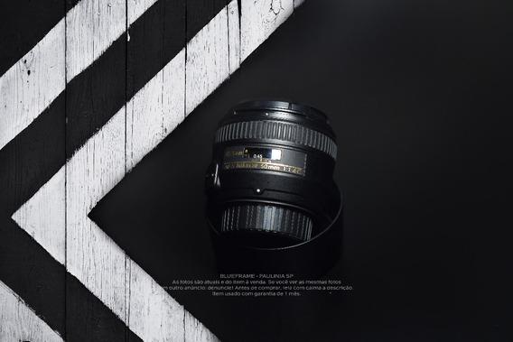 Lente 50mm 1.4g Nikon - Usada, Garantia 1 Mês.